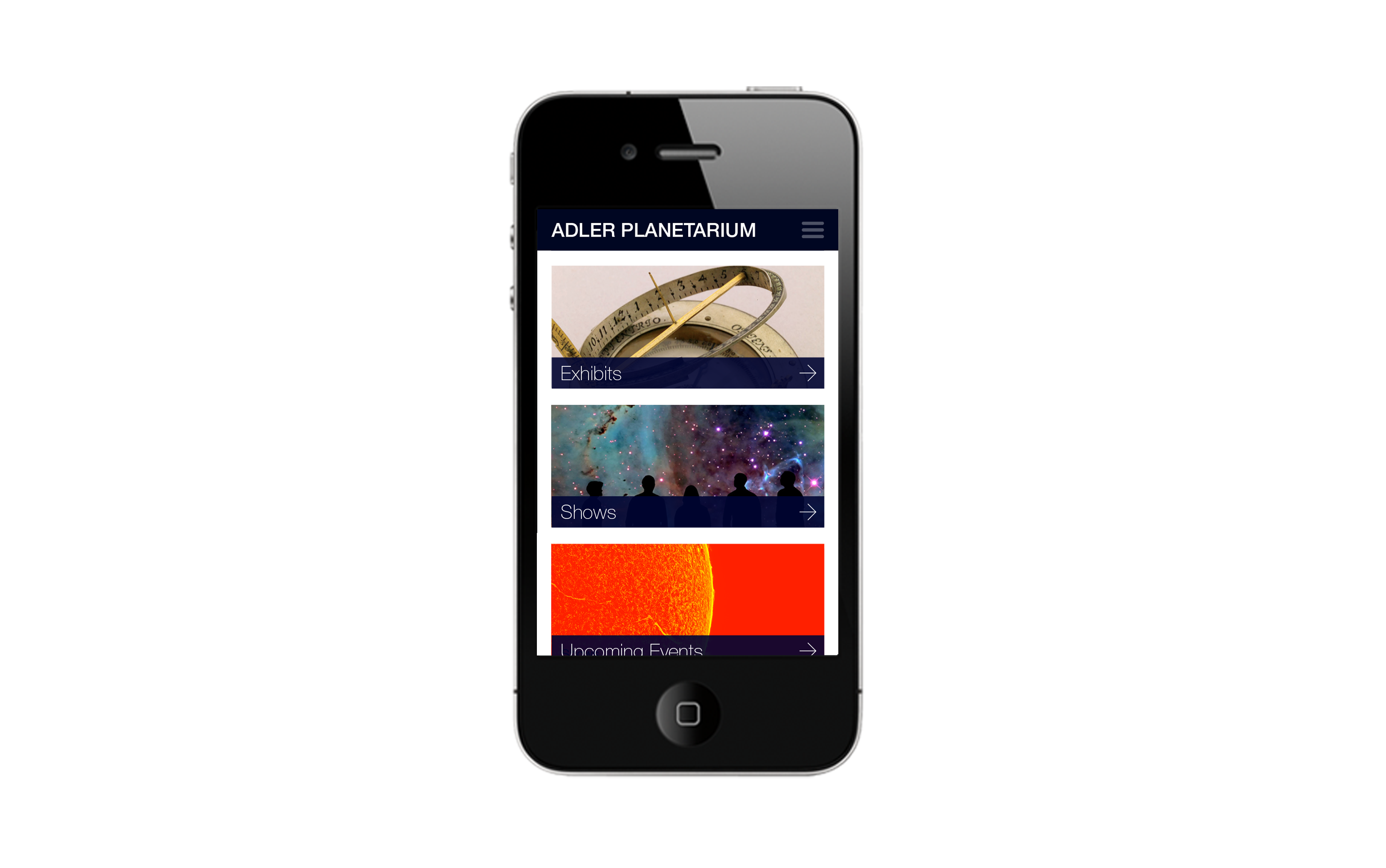 Museum App Design Home
