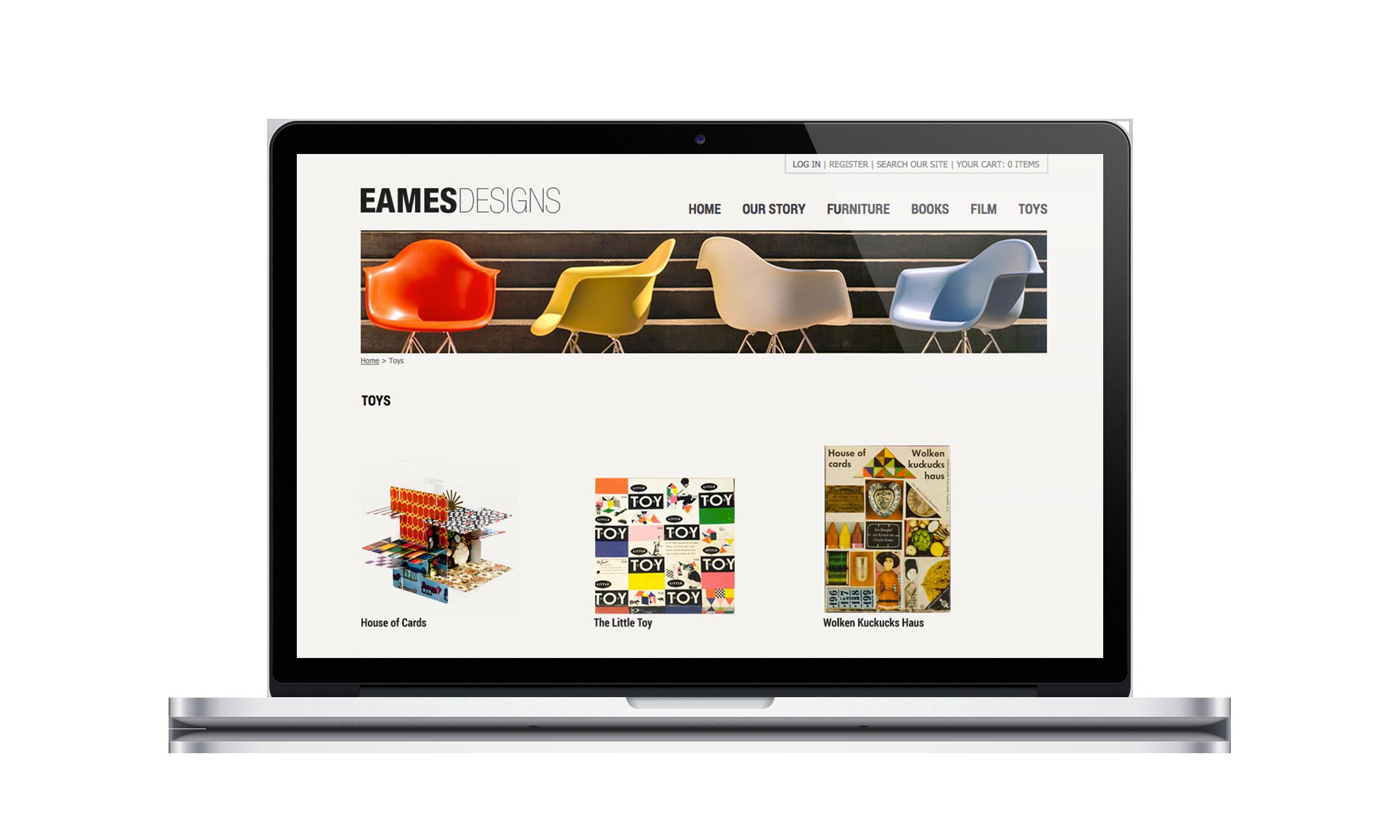 Eames Design Website Toys