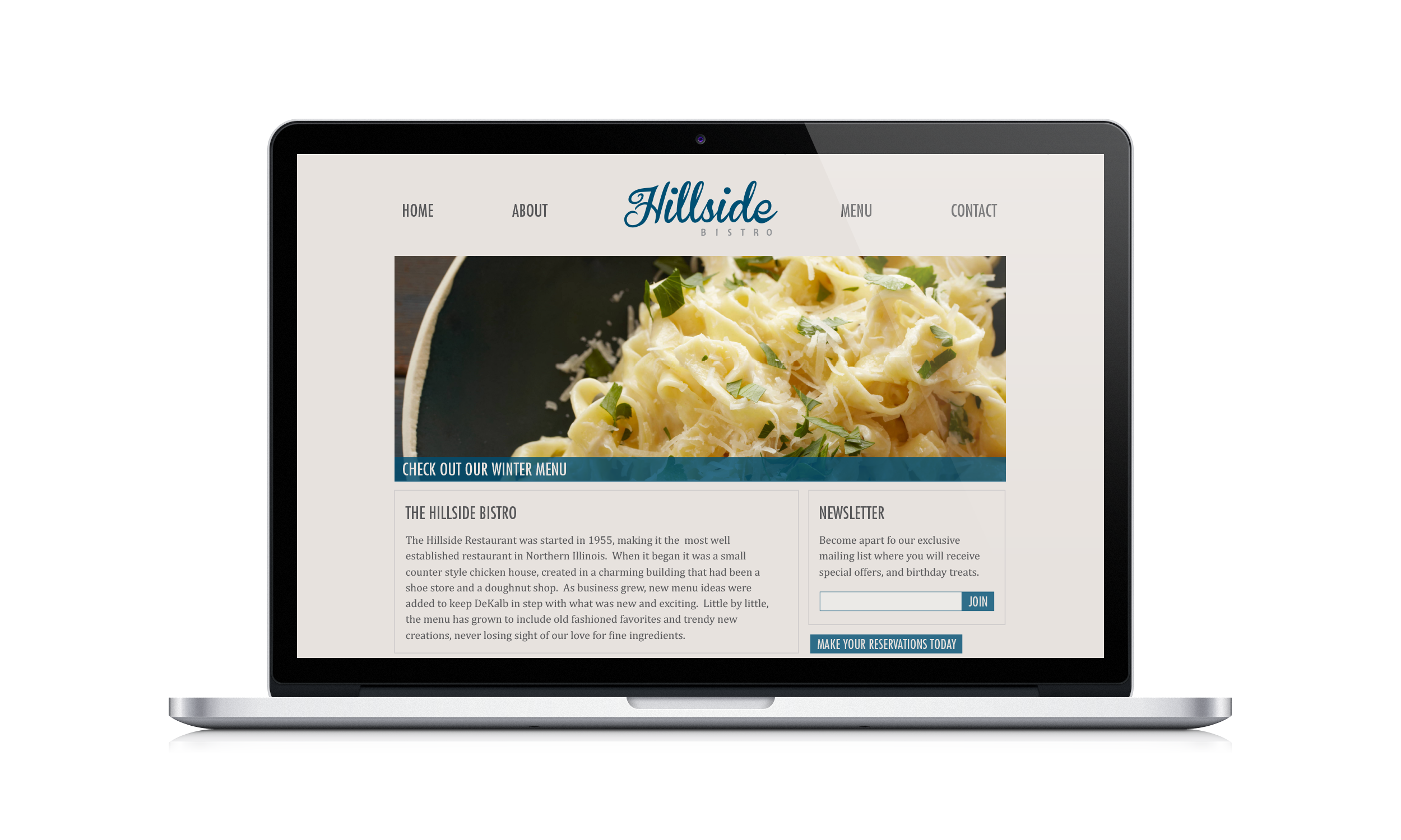 Hillside Restaurant Website