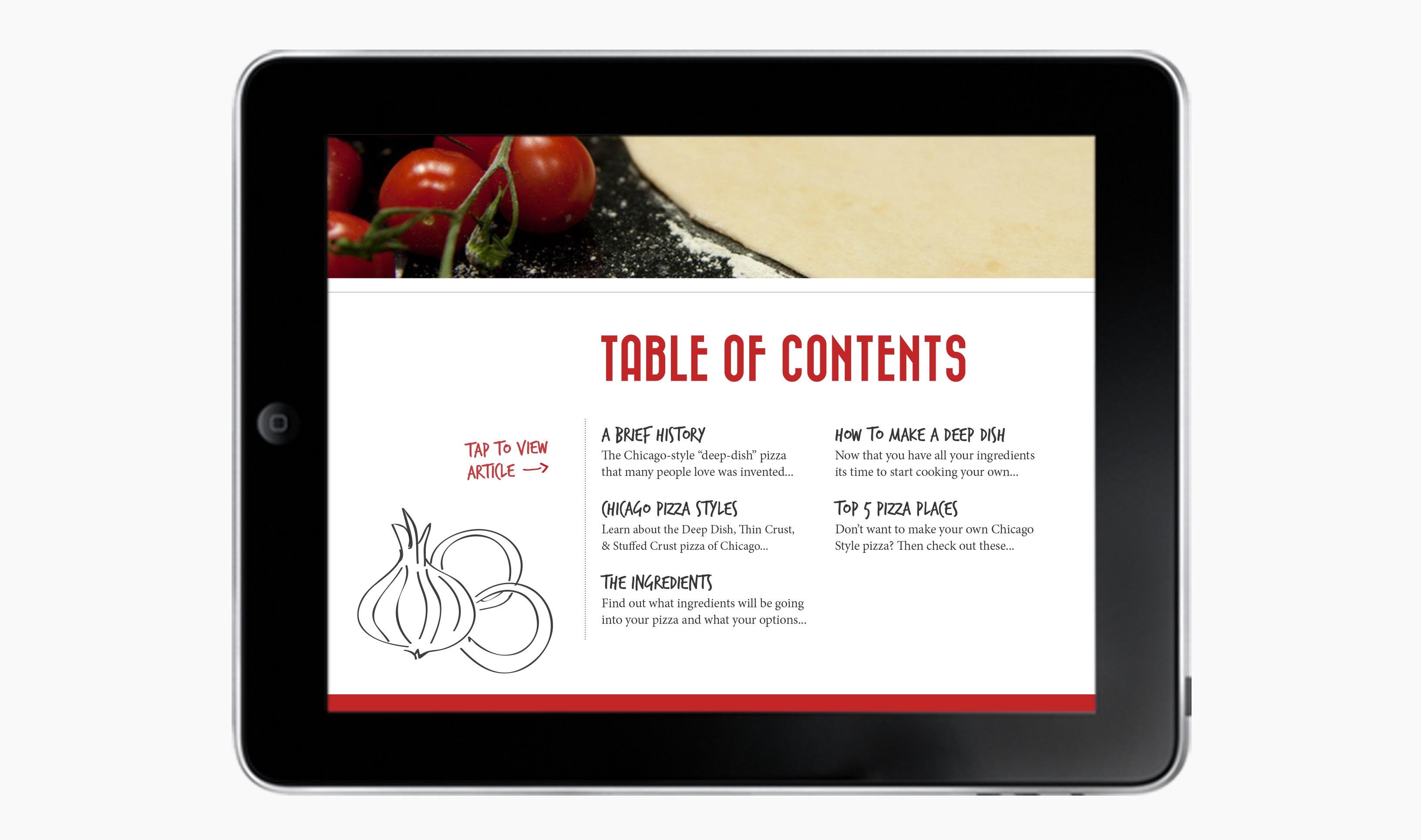 iPad Pizza TOC