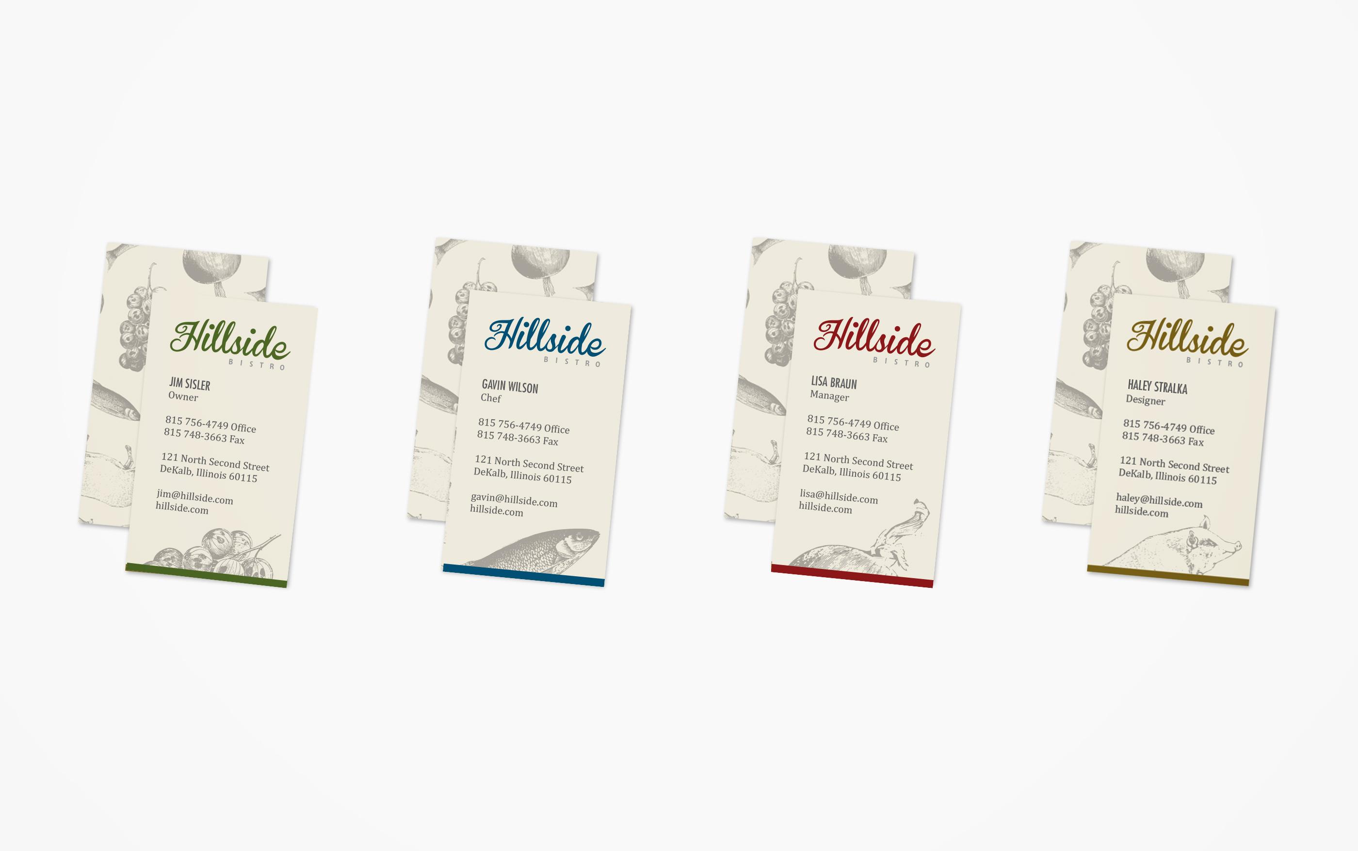 Hillside Restaurant Business Cards